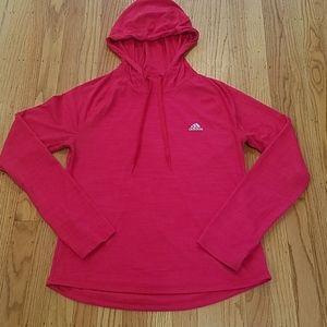 Adidas Climalite  Long Sleeve Running Shirt Hoodie